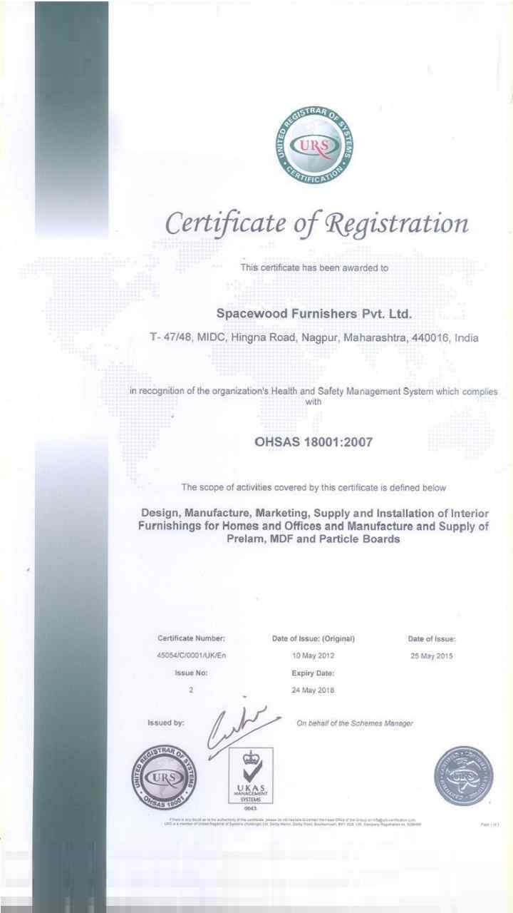 iso 18001-2007 certification